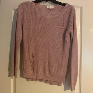 Carmen Distressed Knit Sweater